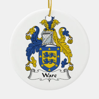 Ware Family Crest Christmas Tree Ornaments