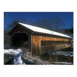 Ware Gilbertville Bridge in Winter Postcard