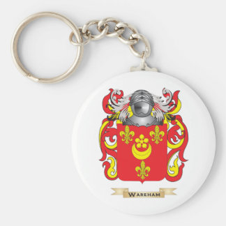 Wareham Family Crest (Coat of Arms) Basic Round Button Keychain