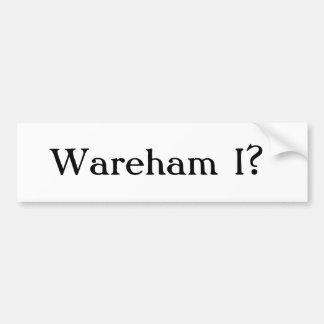 ¿Wareham I? Pegatina De Parachoque