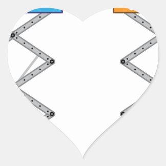 Warehouse lift vector heart sticker
