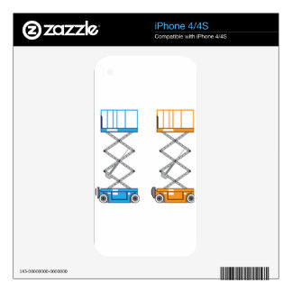 Warehouse lift vector iPhone 4 skin