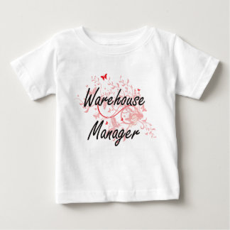 Warehouse Manager Artistic Job Design with Butterf Baby T-Shirt