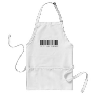 Warehouse Manager Bar Code Adult Apron