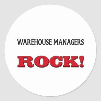 Warehouse Managers Rock Classic Round Sticker
