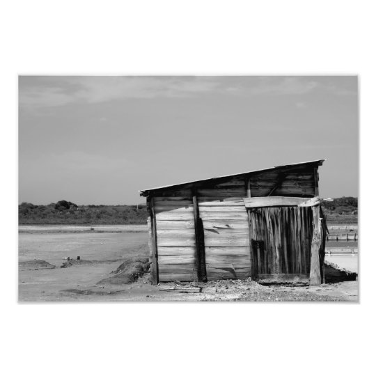 Warehouse Montecristi Dominican Republic BW Photo Print