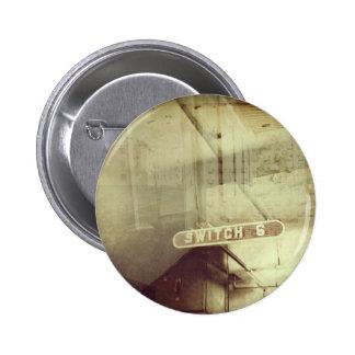 warehouse photo overlay series pinback button
