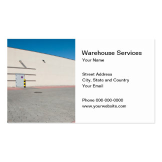 Warehouse Services Business Card