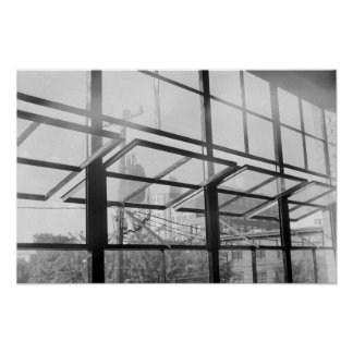 Warehouse Windows, Black and White Photo (Poster) Poster