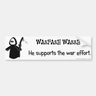 Warfare Warren Bumper Sticker