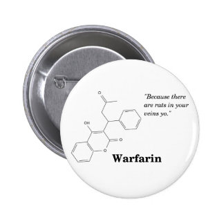 Warfarin (Blood Thinner) Pinback Button