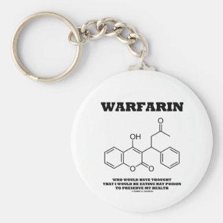 Warfarin que toma el veneno de la rata para preser llavero redondo tipo pin