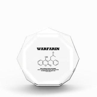 Warfarin Taking Rat Poison To Preserve My Health Acrylic Award