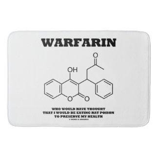 Warfarin Taking Rat Poison To Preserve My Health Bath Mats