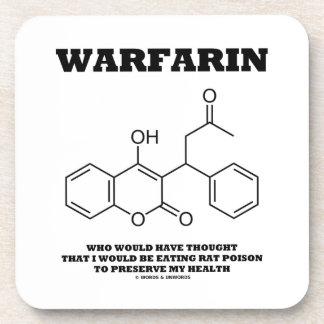 Warfarin Taking Rat Poison To Preserve My Health Drink Coasters