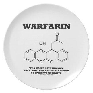 Warfarin Taking Rat Poison To Preserve My Health Melamine Plate