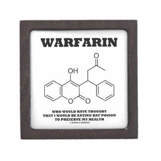 Warfarin Taking Rat Poison To Preserve My Health Premium Jewelry Box