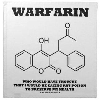 Warfarin Taking Rat Poison To Preserve My Health Printed Napkin