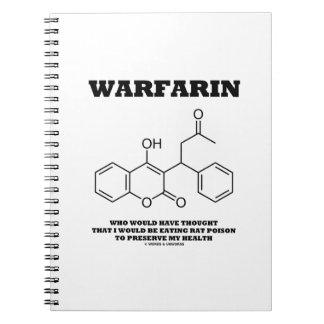 Warfarin Taking Rat Poison To Preserve My Health Spiral Notebook