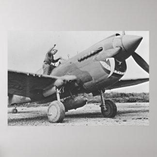 Warhawk P40 1943 Poster