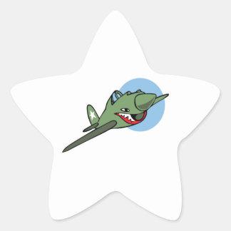 WARHAWK PLANE STAR STICKER