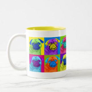 Warhol inspired Pug Mug