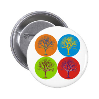 Warhol Inspired Trees Button