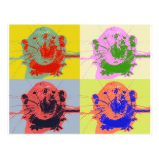 Warhol Rats Postcard