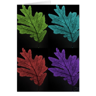 warholesque leaf greeting card