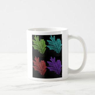 warholesque leaf coffee mugs