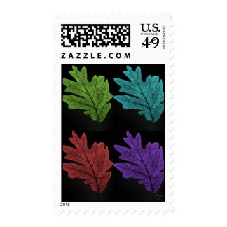 warholesque leaf postage stamps
