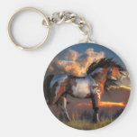 Warhorse Basic Round Button Keychain