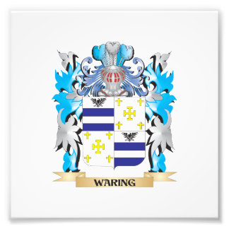 Waring Coat of Arms - Family Crest Photographic Print