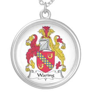 Waring Family Crest Round Pendant Necklace