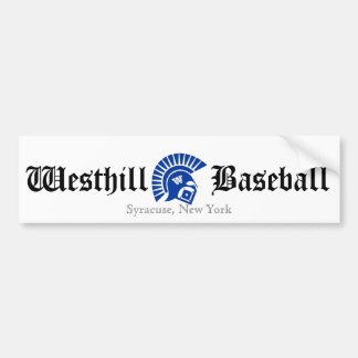 Wariors, Westhill, Baseball, Syracuse, New York Bumper Stickers