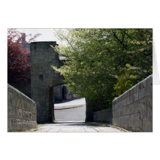 Warkworth Bridge Tower is a rare late 14th century Card
