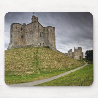 Warkworth Castle in Northumberland, England Mousepads