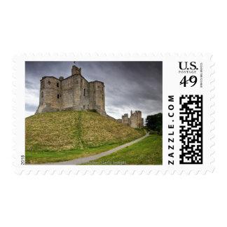 Warkworth Castle in Northumberland, England Postage Stamp