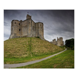Warkworth Castle in Northumberland, England Poster