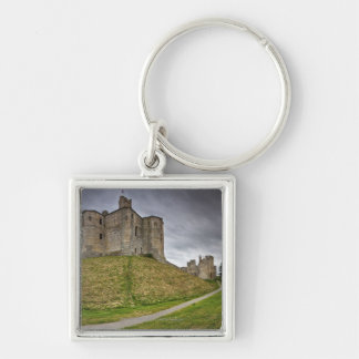 Warkworth Castle in Northumberland, England Silver-Colored Square Keychain
