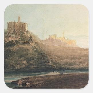 Warkworth Castle, Northumberland, c.1798 (w/c, gou Square Sticker