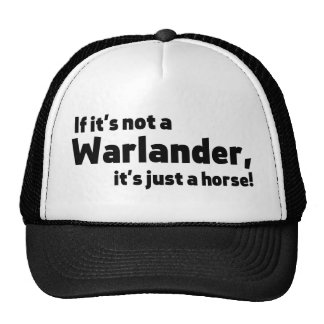 Warlander horse trucker hat