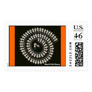 Warli Dance Postage Stamps