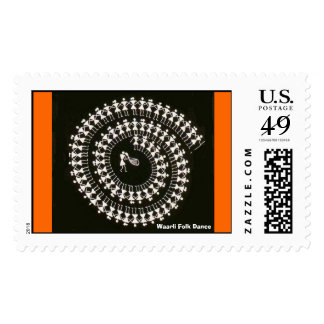 Warli Dance Postage Stamps