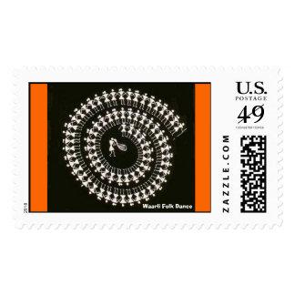 Warli Dance Stamp