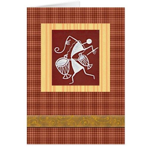 Warli folk art celebration greeting card | Zazzle