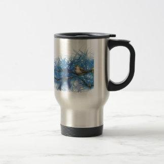 warlike bird travel mug