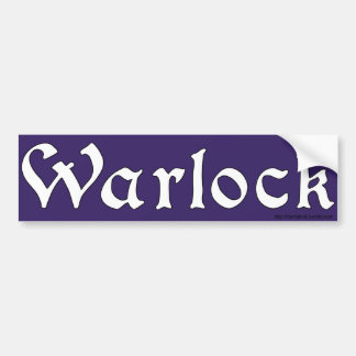 Warlock Bumper Sticker