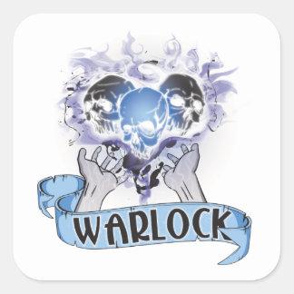 WARLOCK Tattoo Square Sticker