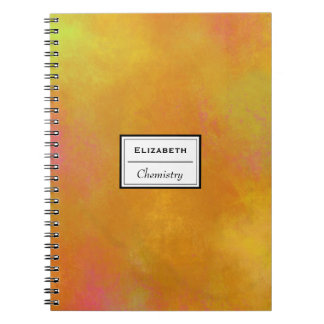 Warm Abstract Tones in Orange Yellow and Pink Notebook